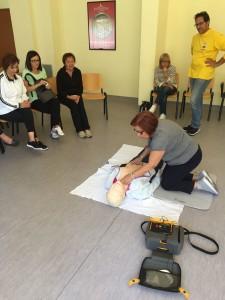 L'esercitazione all'uso del defibrillatore