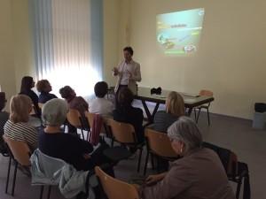 Un momento della lezione tenuta dal medico Giuseppe Pirrello