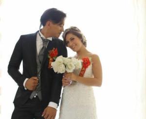 Simone e Sara il giorno delle nozze