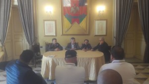 Un momento della conferenza stampa