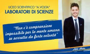 Il pannello dedicato dal Liceo scientifico alla memoria di Aldo Naro